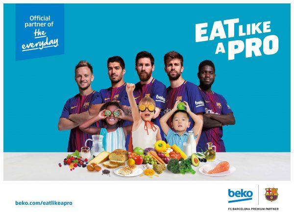 """DE: """"Eat Like a Pro"""": Beko und der FC Barcelona fördern die gesunde Ernährung von Kindern"""