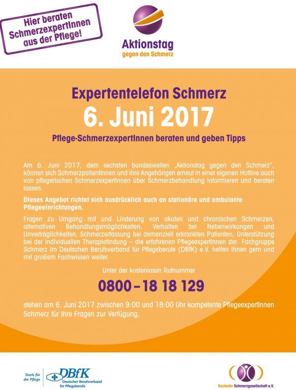 DE: Am 6. Juni: Expertentelefon Schmerz