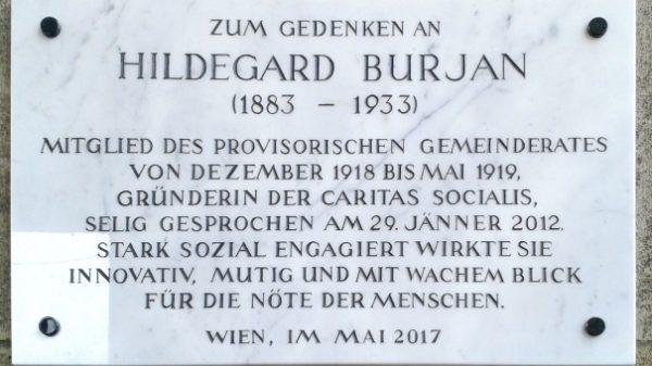 AT: Hildegard Burjan erhält eine Gedenktafel am Wiener Rathaus