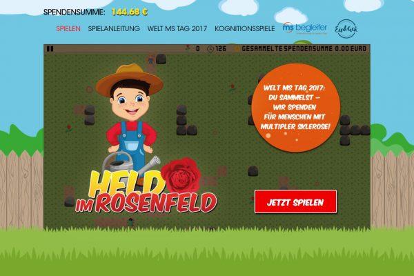 """DE: Die Aktion """"Multiple SkleROSE"""" geht ins vierte Jahr - Online-Spiel mit kognitivem Zusatznutzen zum Welt MS Tag 2017"""