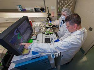 Gregory Aune im Labor: Folgen von Chemotherapien untersucht (Foto: uthscsa.edu)