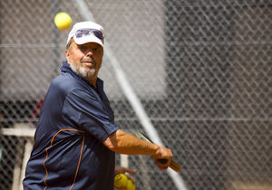 Tennisspieler: Sport erhöht die Lebenserwartung (Foto: pixelio.de, Rainer Sturm)