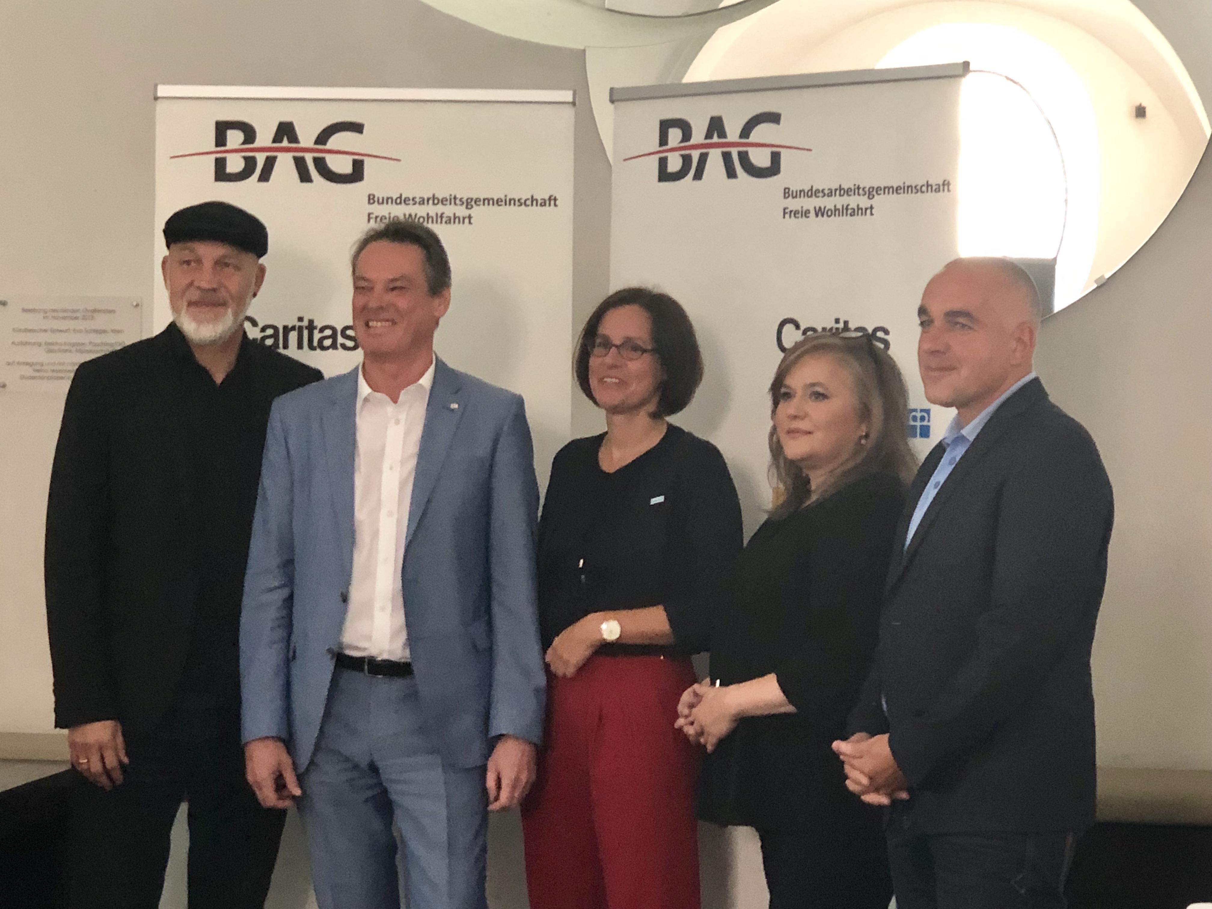 Erich Fenninger, Michael Opriesnig, Maria Katharina Moser, Bernd Wachter, Elisabeth Anselm (v.L.n.R.)