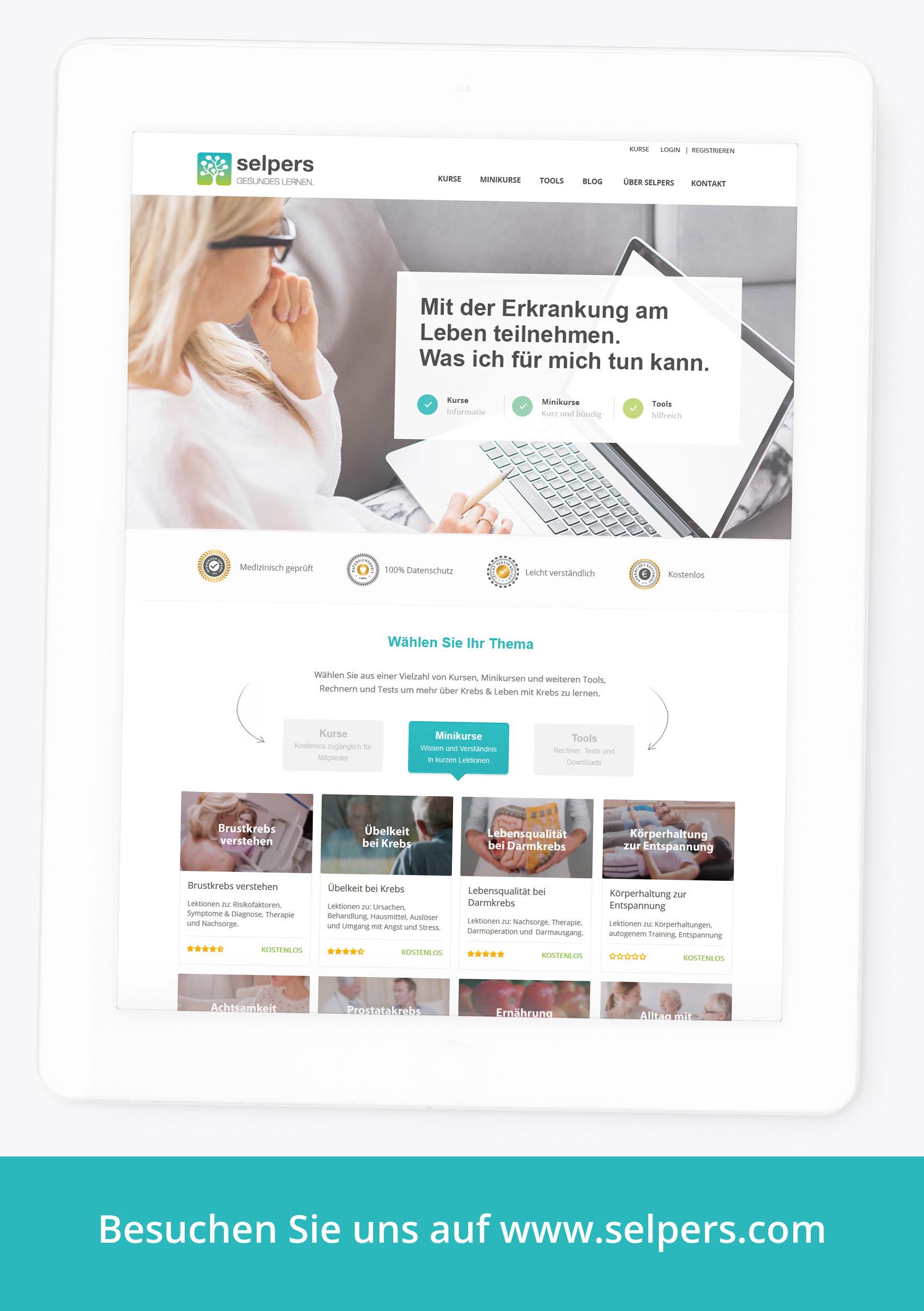 selpers – Online-Plattform fŸr Krebspatienten und Angehšrige
