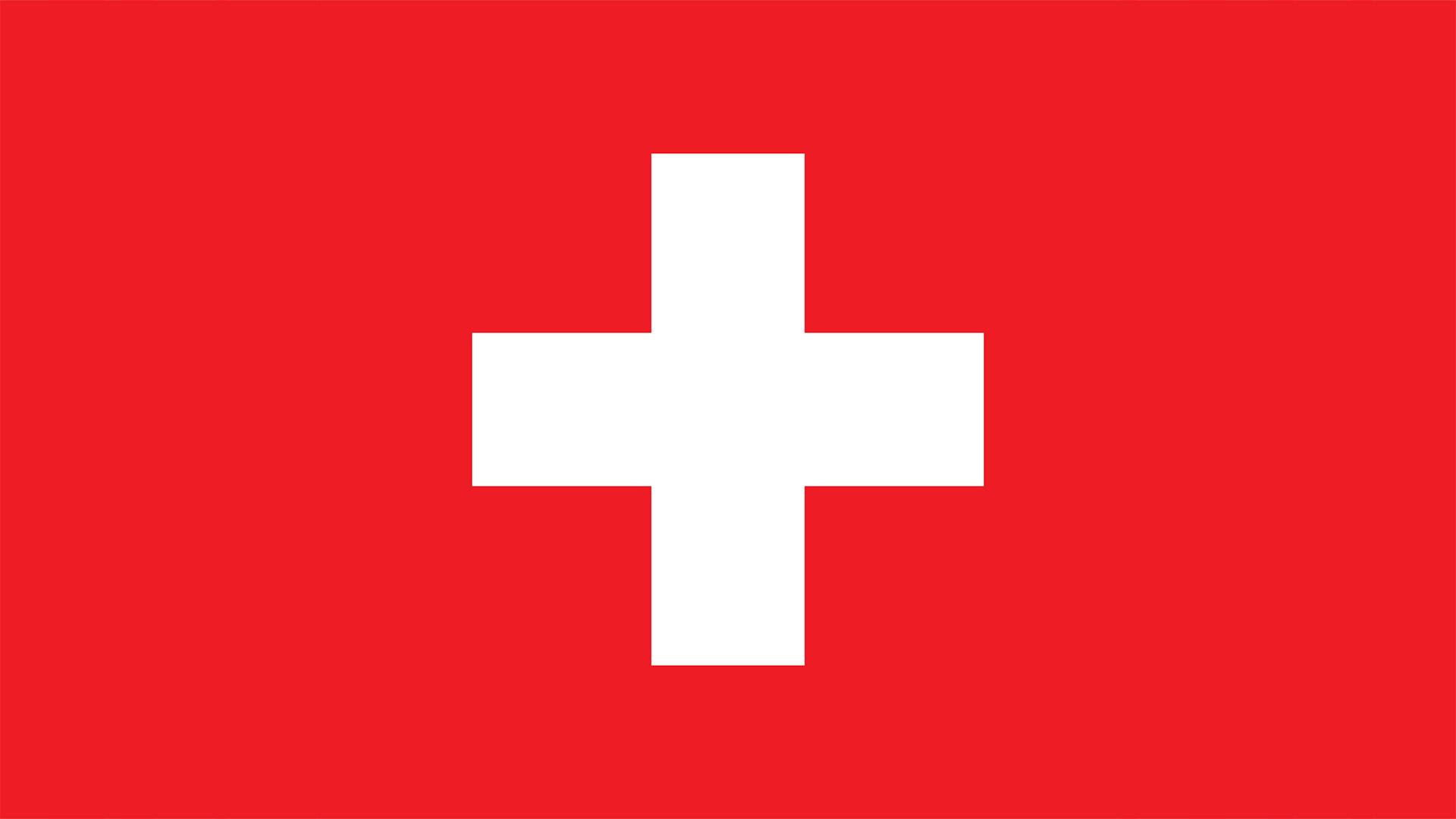 Die Flagge der Schweiz